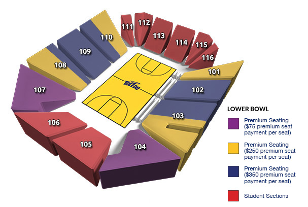 Savage Arena Seating Chart: Lower Bowl