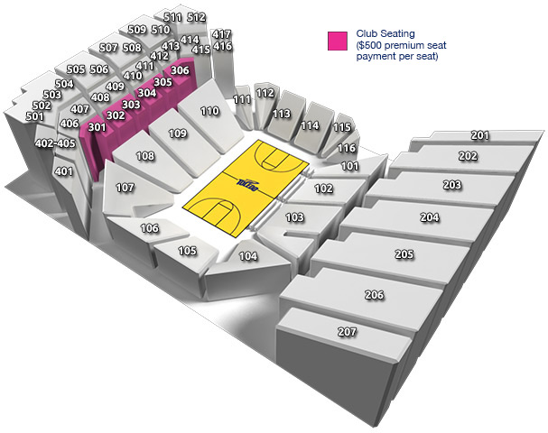 Savage Arena Seating Chart: Club Seats