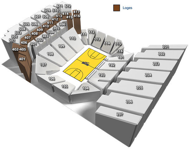 Savage Arena Seating Chart: Loges